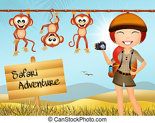 safari animals - Illustration of safari animals