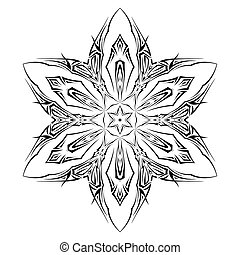 Tatto shuriken - Sketch of tattoo as shuriken with six tips...