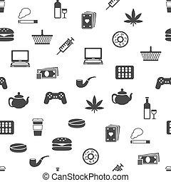 addiction seamless pattern
