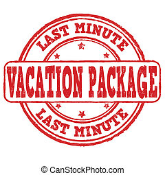 Vacation package, last minute stamp