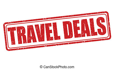 Travel deals stamp - Travel deals grunge rubber stamp on...