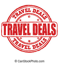 Travel deals stamp