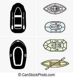 Inflatable boats - Set of Inflatable boats