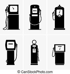 Gasoline pumps - Set of Gasoline pumps