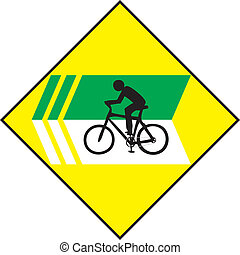 Turn Left Bicycle Sign Label - Vector of Turn Left Bicycle...