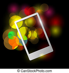 Mobile on bright lights background