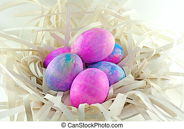 Shaving Cream Tye Dye Easter Eggs - Easter eggs made with...