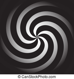Spiral background - Simple vector background in the form of...
