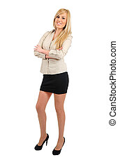 Isolated business woman - Isolated young business woman
