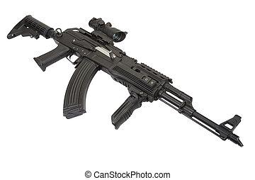 moderno, Kalashnikov, AK47, accesorios