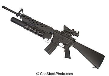 M16 rifle with an M203 grenade launcher