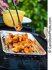 Delicious BBQ cooked pineapple