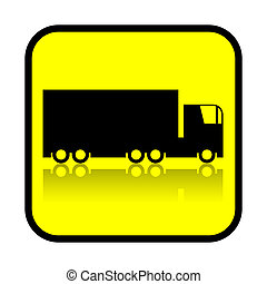 Truck sign isolated on white background