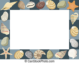 Baby marine photo frame or card Vector illustration