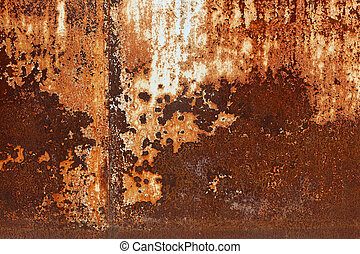 Rusted metal plates - grungy