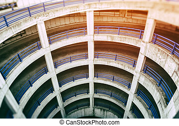 View of multilevel parking - View of multilevel airport...