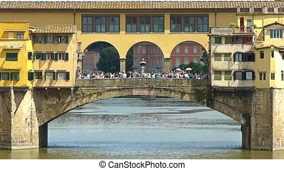 ponte vecchio florence close up - close view of ponte...