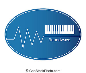 Soundwave and piano keys EPS 10