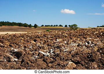 Plowed fields in Molise center Italy