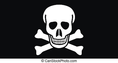 Jolly Roger flag Vector illustration
