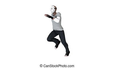hockey mask man - running hockey mask man