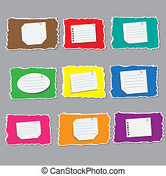 Set of blank labels with vector illustration