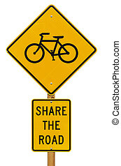 Share The Road With Bicycles Sign