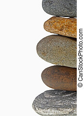 Pile of pebble Stones - Five stones balanced on top of...