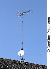 tv antenna on toof - tv antenna on japanese roof style