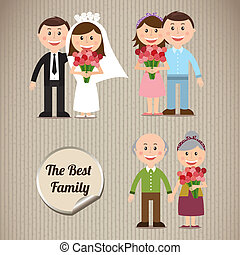 family design over gray background vector illustration
