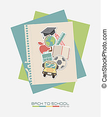 School design over white background, vector illustration