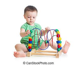 嬰孩, 女孩, 玩具, 教育