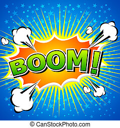 Boom! Comic Speech Bubble. - Comic Speech Bubble, Cartoon....