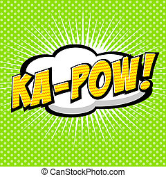 Ka-Pow Comic Speech Bubble - Comic Speech Bubble, Cartoon...