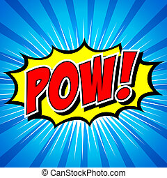 Pow Comic Speech Bubble - Comic Speech Bubble, Cartoon...
