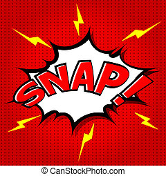 Snap Comic Speech Bubble - Comic Speech Bubble, Cartoon...