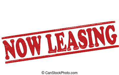 Now leasing - Stamp with text now leasing inside,vector...