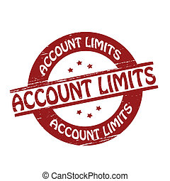 Account limits - Stamp with text account limits...