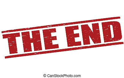 The end - Stamp with text the end inside,vector illustration