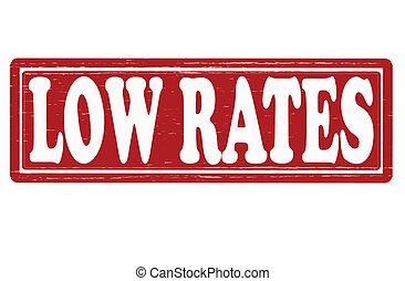 Low rates - Stamp with text low rates inside, vector...