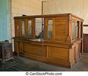 Antique Bank Teller Station - This antique bank teller...