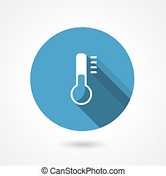 Temperature icon with a thermometer - Temperature or temp...