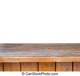 wooden table top - Empty wooden table top