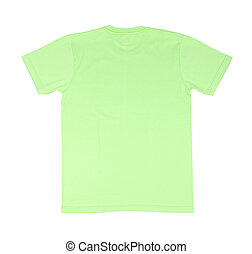 t-shirt template - green t-shirt template (back side) on...