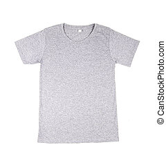 t-shirt template - gray t-shirt template (front side) on...