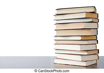 books  - stack of books isolated on white