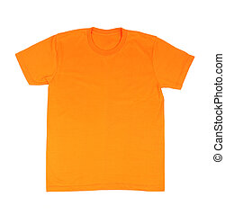 t-shirt template - orange t-shirt template front side on...