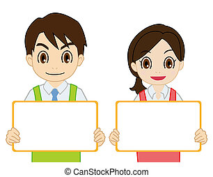 salesperson having a white board