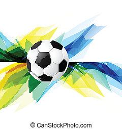 grunge style soccer background