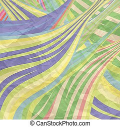 vector background with colored lines and texture of crumpled...